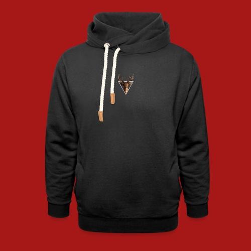 Deer-Head GOLD - Unisex hoodie med sjalskrave