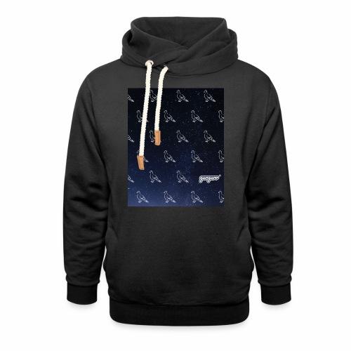 pigeonarmay in space - Schalkragen Hoodie