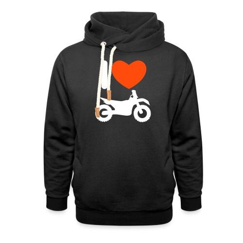 I love biking - Schalkragen Hoodie