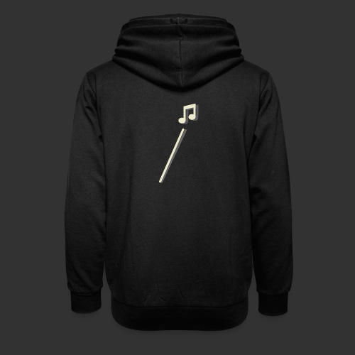 scheet muzieknoot - Sjaalkraag hoodie