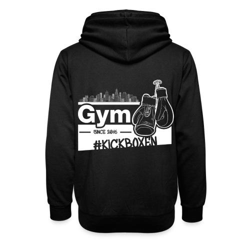 Gym Druckfarbe weiss - Schalkragen Hoodie