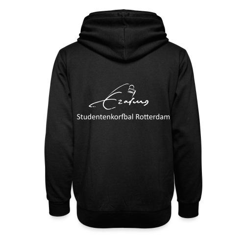 Erasmus Korfbal wit - Unisex sjaalkraag hoodie