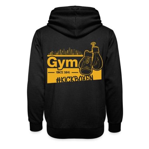 Gym Druckfarbe Orange - Unisex Schalkragen Hoodie