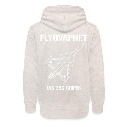 FLYGVAPNET - JAS 39C - Luvtröja med sjalkrage unisex