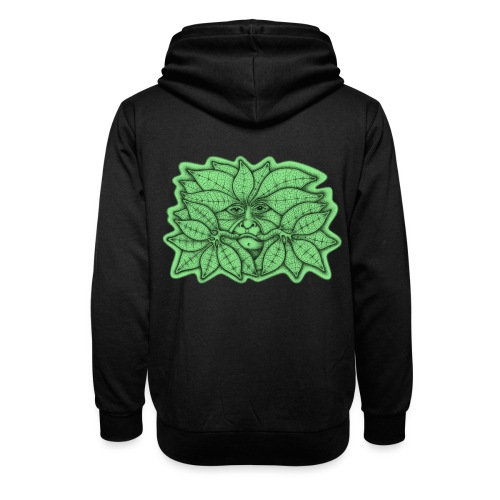 Green Man for Pagan Global Warming/Climate Change - Shawl Collar Hoodie