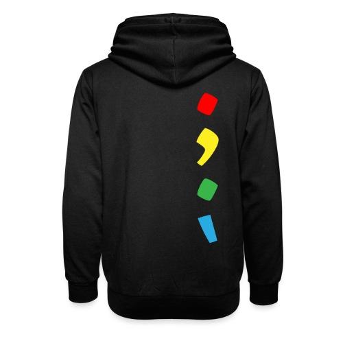 Tjien Logo Design - Vertical Accents - Unisex sjaalkraag hoodie
