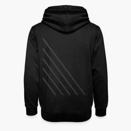 STRIPED - Unisex hoodie med sjalskrave