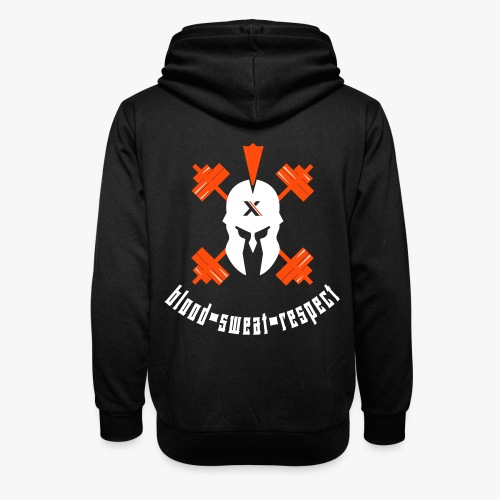 blood sweat respect - Unisex Schalkragen Hoodie