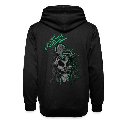 Dread Skull - Felpa con colletto alto unisex