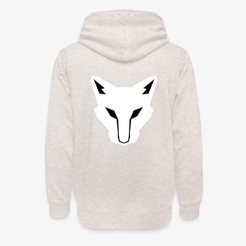OokamiShirt Blanc - Sweat à capuche cache-cou unisexe