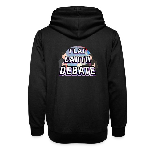 Flat Earth Debate Solid - Shawl Collar Hoodie
