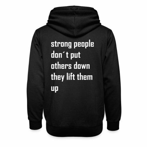 strong people - Unisex sjaalkraag hoodie