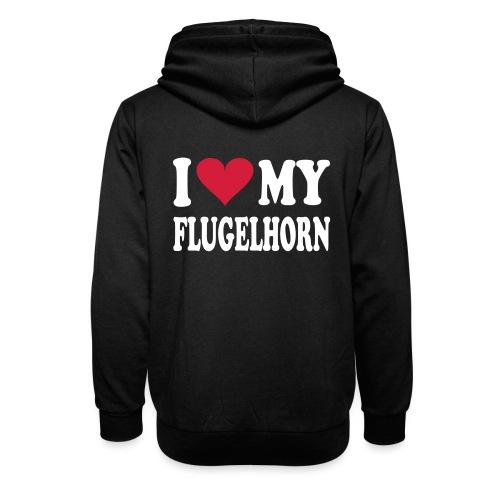 I LOVE MY FLUGELHORN - Unisex hettegenser med sjalkrage
