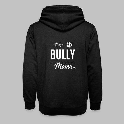 Stolze Bully Mama - Hundepfote - Schalkragen Hoodie