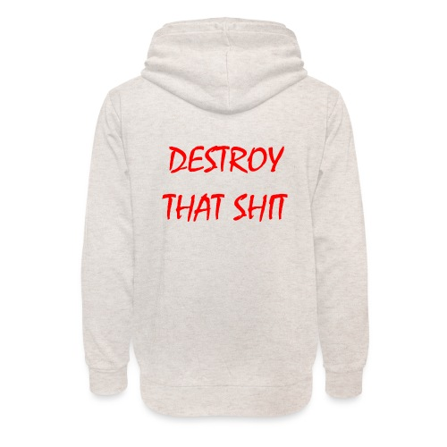DestroyThatSh ** _ red - Unisex Shawl Collar Hoodie