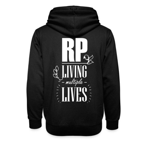 Role play - Living multiple lives - Unisex hoodie med sjalskrave
