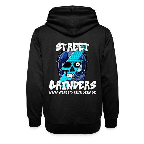 Street Grinders Merch Blau - Schalkragen Hoodie