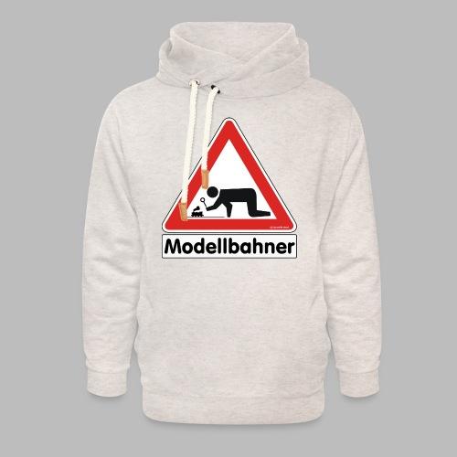 Warnschild Modellbahner Dampflok - Unisex Schalkragen Hoodie
