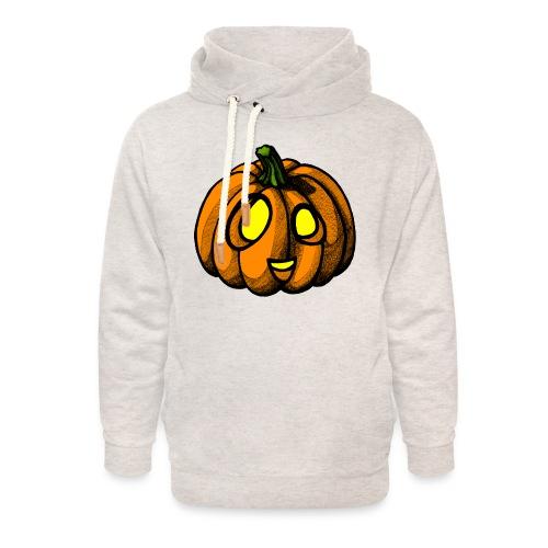 Pumpkin Halloween scribblesirii - Unisex Shawl Collar Hoodie