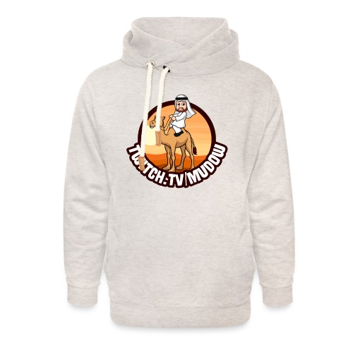 mudowdesign - Unisex hoodie med sjalskrave