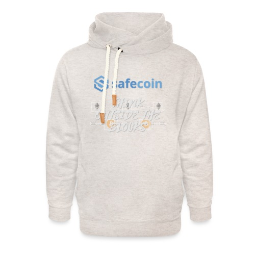 SafeCoin; Think Outside the Blocks (blue + white) - Unisex Shawl Collar Hoodie