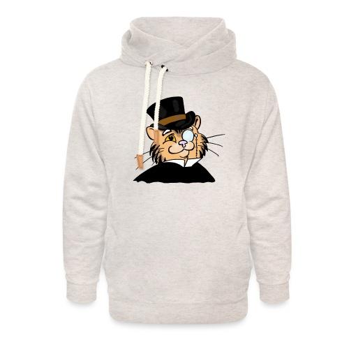 Gatto nonno - Felpa con colletto alto unisex