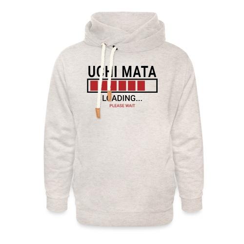 Uchi Mata loading... pleas wait - Bluza z szalowym kołnierzem unisex