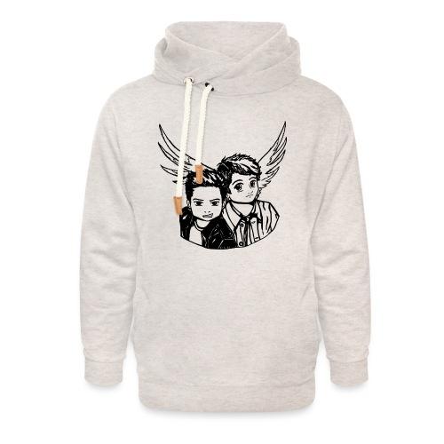 Destiel (Silhuet) - Unisex hoodie med sjalskrave