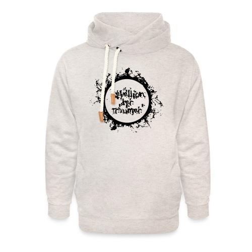 Rebellion der Träumer Logo schwarz - Unisex Schalkragen Hoodie