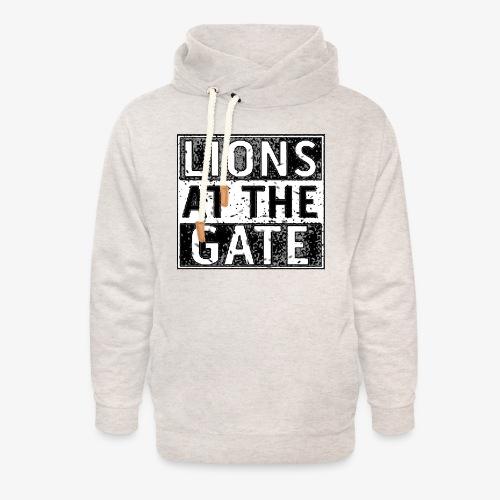 LIONS AT THE GATE BAND LOGO - Unisex sjaalkraag hoodie