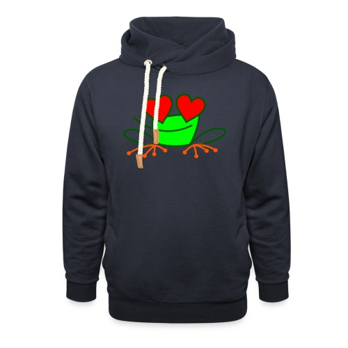 Frog in Love - Unisex Shawl Collar Hoodie