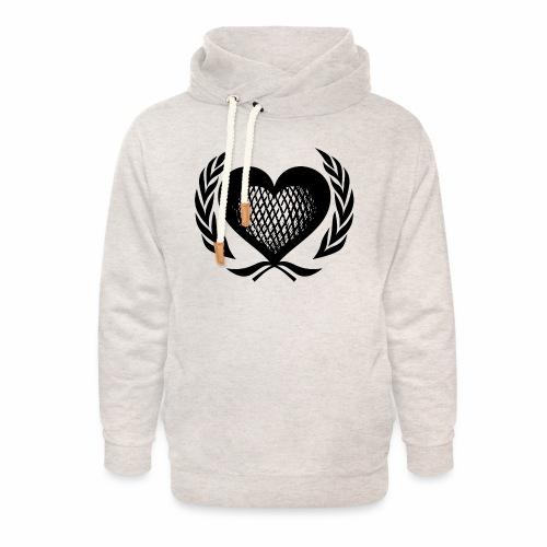 Herz Kranz Gitter Netz Logo Emblem Geschenkidee - Unisex Schalkragen Hoodie
