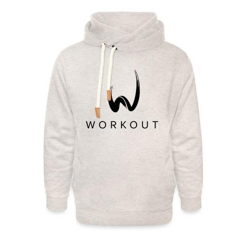 Workout mit Url - Unisex Schalkragen Hoodie