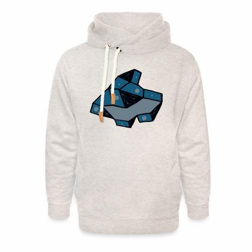 dot rock - Unisex sjaalkraag hoodie