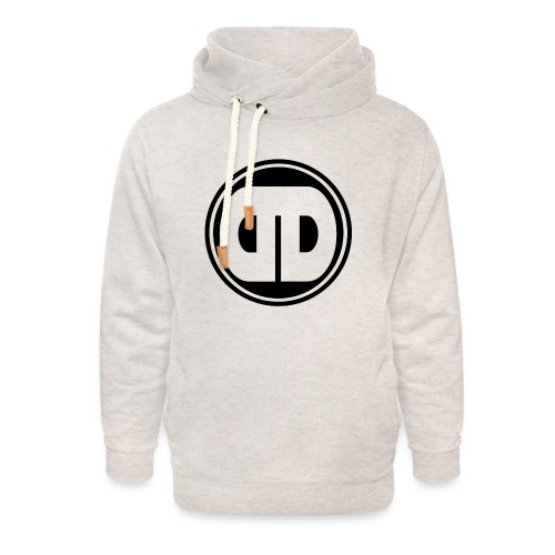 DDz Badge Logo V2 Black - Unisex Shawl Collar Hoodie