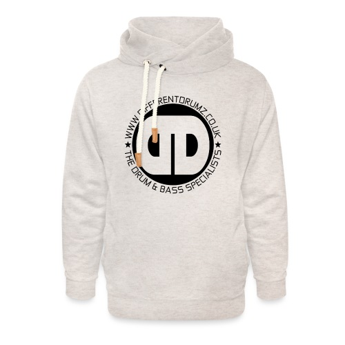 Different Drumz Logo 2020 Black V2 - Unisex Shawl Collar Hoodie