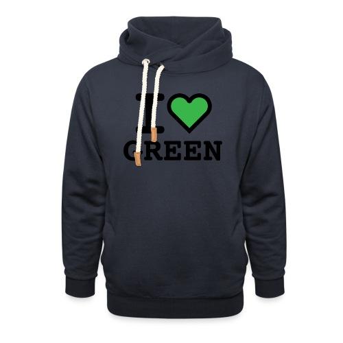 i-love-green-2.png - Felpa con colletto alto unisex