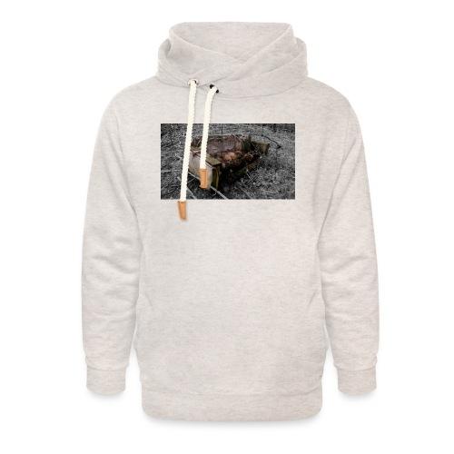 sofa 1 - Unisex hoodie med sjalskrave