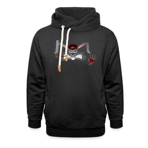 Hallo How are you - Unisex hoodie med sjalskrave