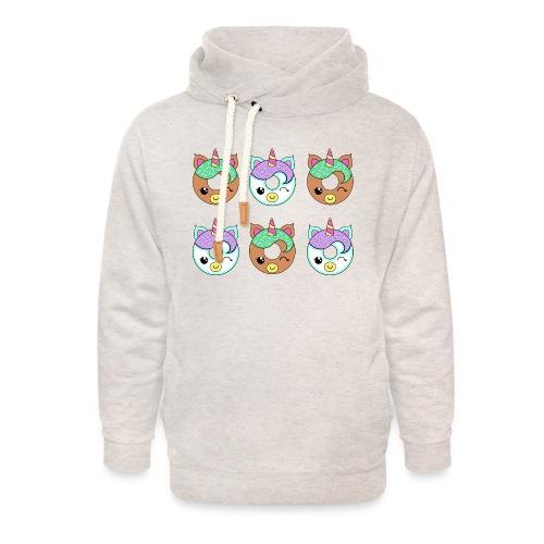 Unicorn Donut - Felpa con colletto alto unisex