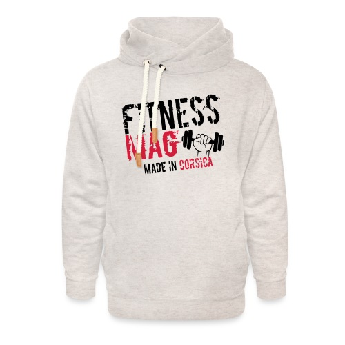Fitness Mag made in corsica 100% Polyester - Sweat à capuche cache-cou unisexe