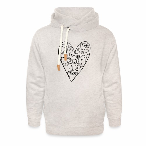 I Love Cats - Unisex Shawl Collar Hoodie