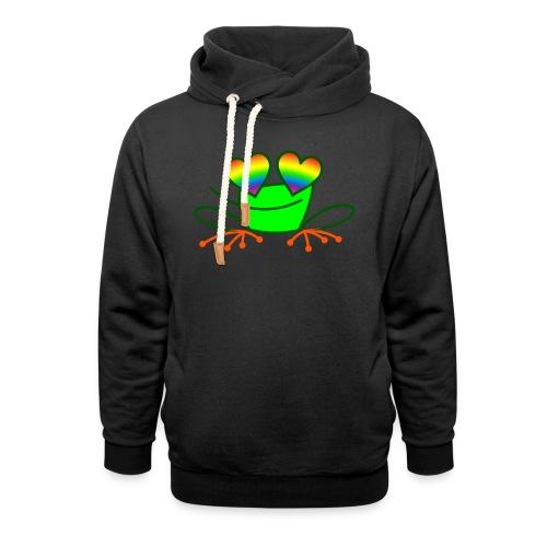 Pride Frog in Love - Unisex Shawl Collar Hoodie