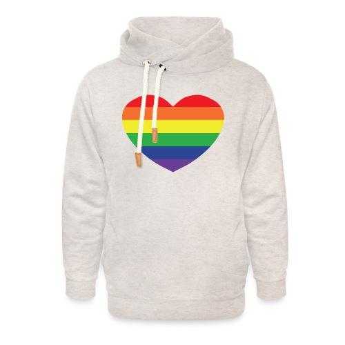 Rainbow heart - Unisex Shawl Collar Hoodie