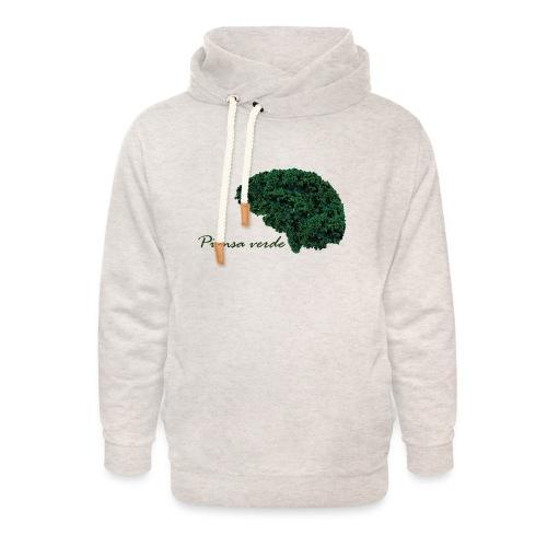 Piensa verde - Sudadera con capucha y cuello alto unisex