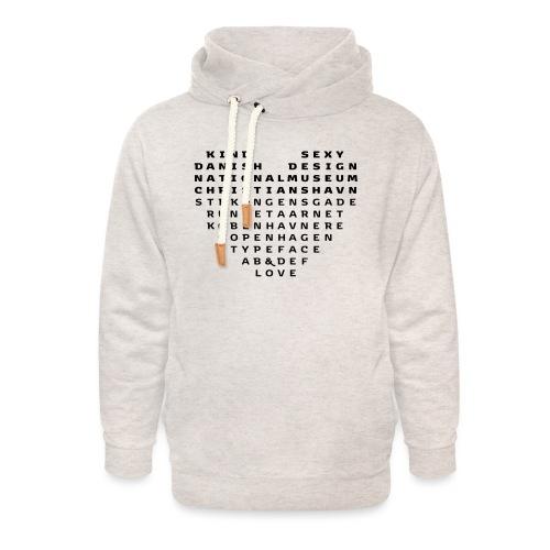 Copenhagen Heart - Unisex hoodie med sjalskrave