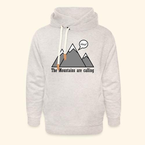 mountains calling - Unisex Schalkragen Hoodie