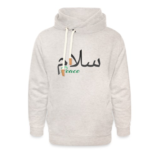 Arabic Salam text - Unisex Shawl Collar Hoodie