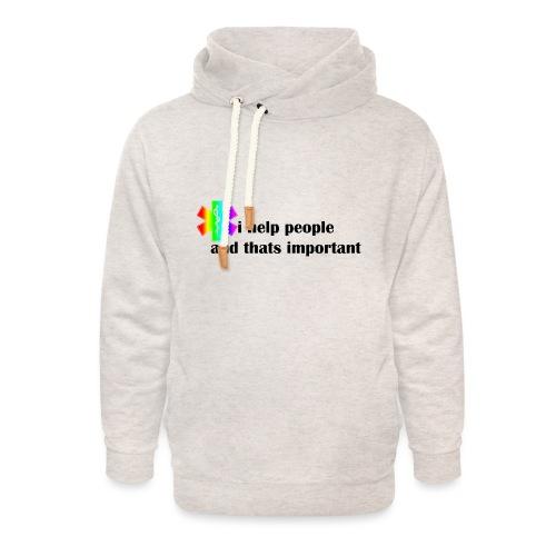 i help people - Unisex sjaalkraag hoodie