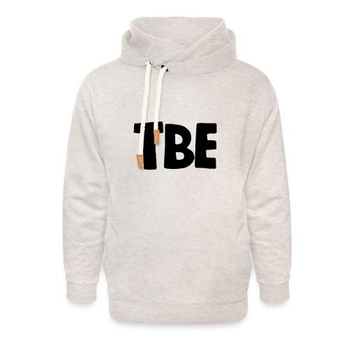 Logo zwart - Unisex sjaalkraag hoodie